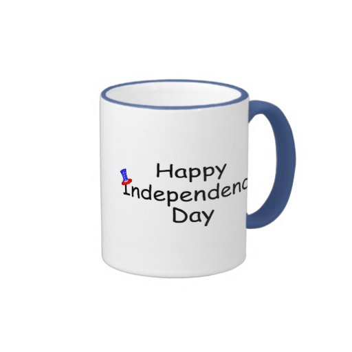 Happy Independence Day July 4 Ringer Coffee Mug