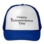 Happy Independence Day July 4 Trucker Hat