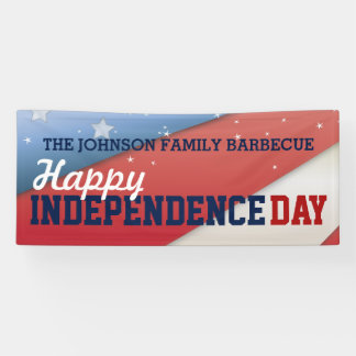 Happy Independence Day July 4th Patriotic Flag Banner