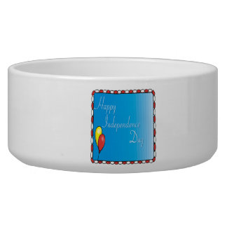Happy Independence Day Pet Water Bowl