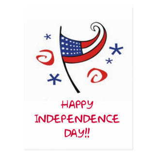 Happy Independence Day Postcard