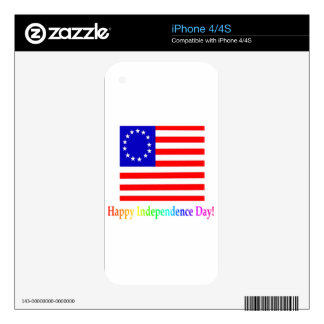 Happy Independence Day iPhone 4 Decals