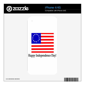 Happy Independence Day iPhone 4 Decal