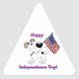 Happy Independence Day! Triangle Sticker