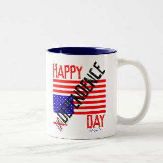 Happy inDependence Day Two-Tone Coffee Mug