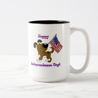 Happy Independence Day! Two-Tone Coffee Mug