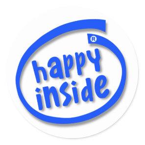 Happy Inside Classic Round Sticker