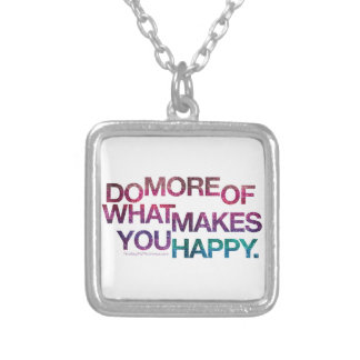Happy Inspirational Glitter Necklace