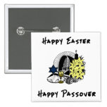 Happy Interfaith Easter and Passover 2 Inch Square Button