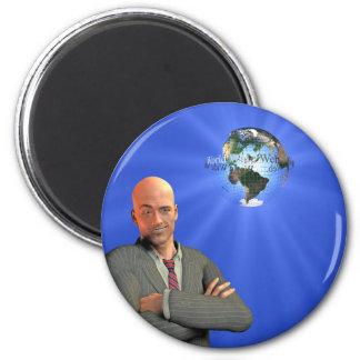 Happy internet man 2 inch round magnet