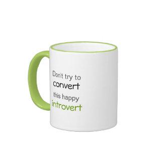 Happy Introvert Coffee Mugs