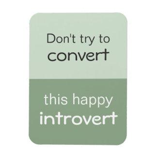 Happy Introvert Flexible Magnet
