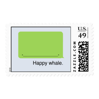 Happy iPhone Whale Postage Stamp