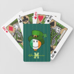 Happy irish Flag Smiley Wearing a Leprechaun Hat Bicycle Playing Cards