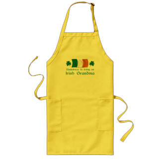 Happy Irish Grandma Long Apron