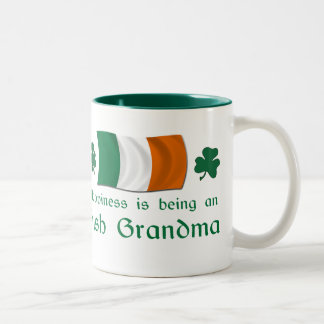 Happy Irish Grandma Two-Tone Coffee Mug