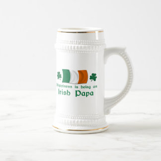 Happy Irish Papa Beer Stein