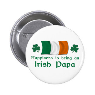 Happy Irish Papa Button