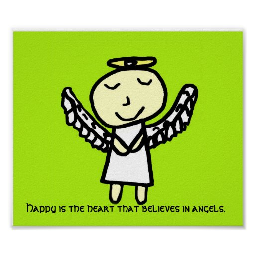 Happy is the Heart Angel Poster