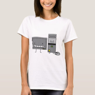 Happy IT Computer Family Ladies T-shirt