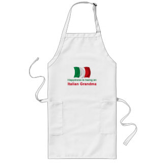 Happy Italian Grandma Long Apron