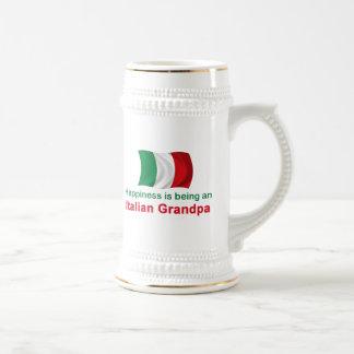 Happy Italian Grandpa Beer Stein