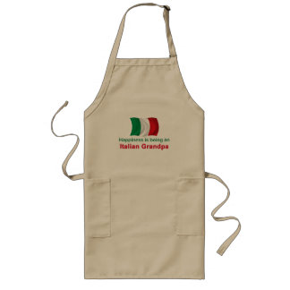 Happy Italian Grandpa Long Apron