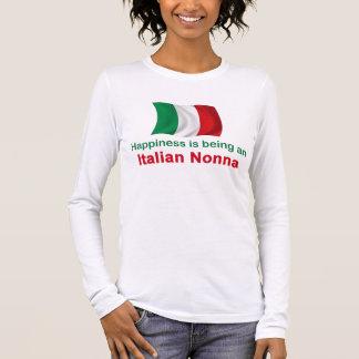 Happy Italian Nonna Long Sleeve T-Shirt