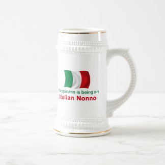 Happy Italian Nonno Beer Stein