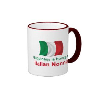Happy Italian Nonno Ringer Coffee Mug