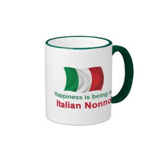 Happy Italian Nonno Ringer Mug