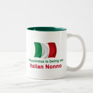 Happy Italian Nonno Two-Tone Coffee Mug