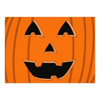 Happy Jack O Lantern Face Cartoon Card