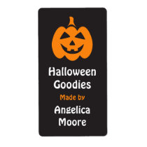 Happy Jack o lantern Halloween kitchen label Shipping Label