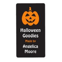 Happy Jack o lantern Halloween kitchen label Shipping Label