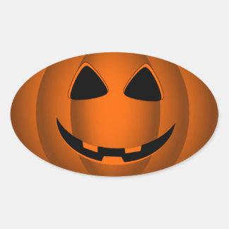 Happy Jack o Lantern Halloween Sticker