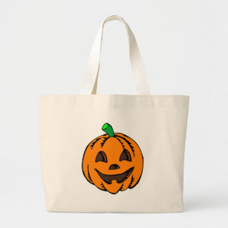 Happy Jack O Lantern Large Tote Bag