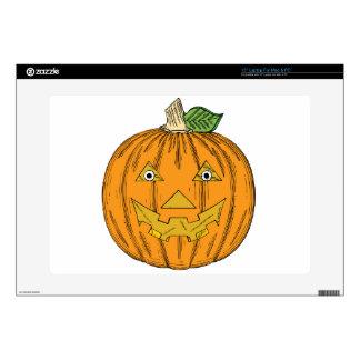 Happy Jack-O'-Lantern Pumpkin - Customize Skins For Laptops