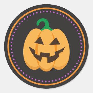 Happy Jack o Lantern pumpkin Halloween stickers