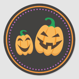 Happy Jack o Lantern pumpkins Halloween stickers