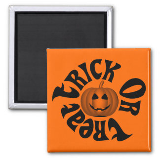 Happy Jack O Lantern Trick Or Treat Magnet