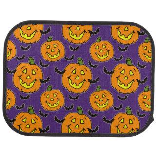Happy Jack-o-lanterns and Bats Car Mat