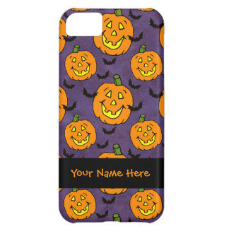 Happy Jack-o-lanterns and Bats Cover For iPhone 5C