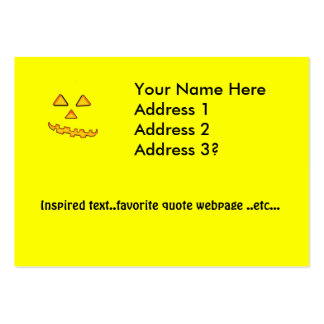 Happy Jack--O-Latern Business Card Template