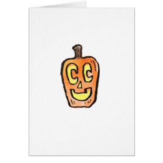 Happy Jack-O-Latern Greeting Card {Halloween}