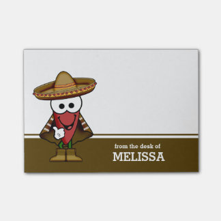 Happy Jalapeno Pepper Personalized Post-it® Notes