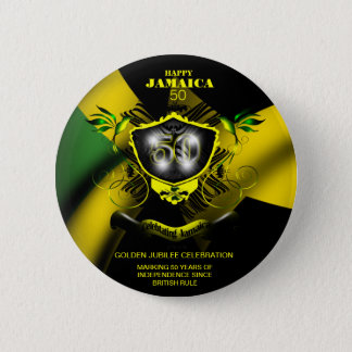 Happy Jamaica 50 Button