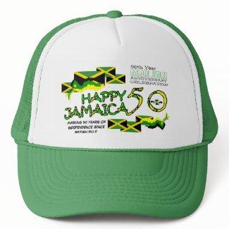 Happy Jamaica 50 Golden Jubilee Celebration Hat