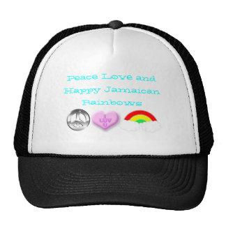 Happy Jamaican Rainbows Mesh Hats