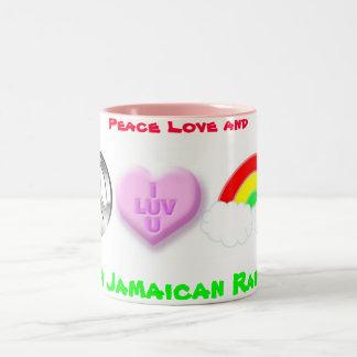 Happy Jamaican Rainbows Two-Tone Coffee Mug